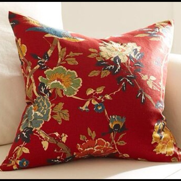 New Pottery Barn Brighton Floral Pillow Cover #1